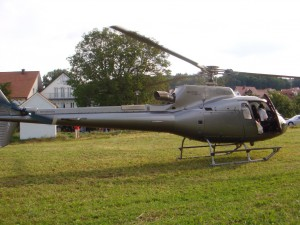 By helicopter to Gewürzmühle in Berching - no problem!