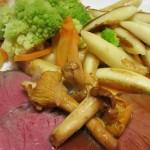 Medium Roast Beef Alchimia jus mit Pfifferligen